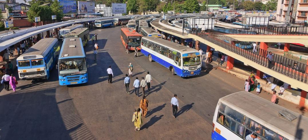 Bangalore, India saves time and money with BIG bus network. Photo by Noppasin/Shutterstock.