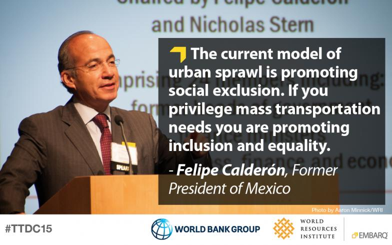 President Felipe Calderón, Global Commission on the Economy and Climate, Transforming Transportation 2015