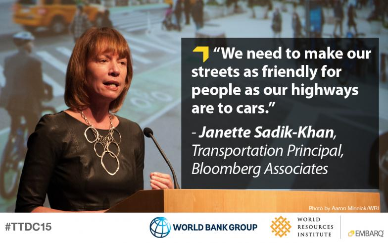 Janette Sadik-Khan, Bloomberg Associates, Transforming Transportation 2015